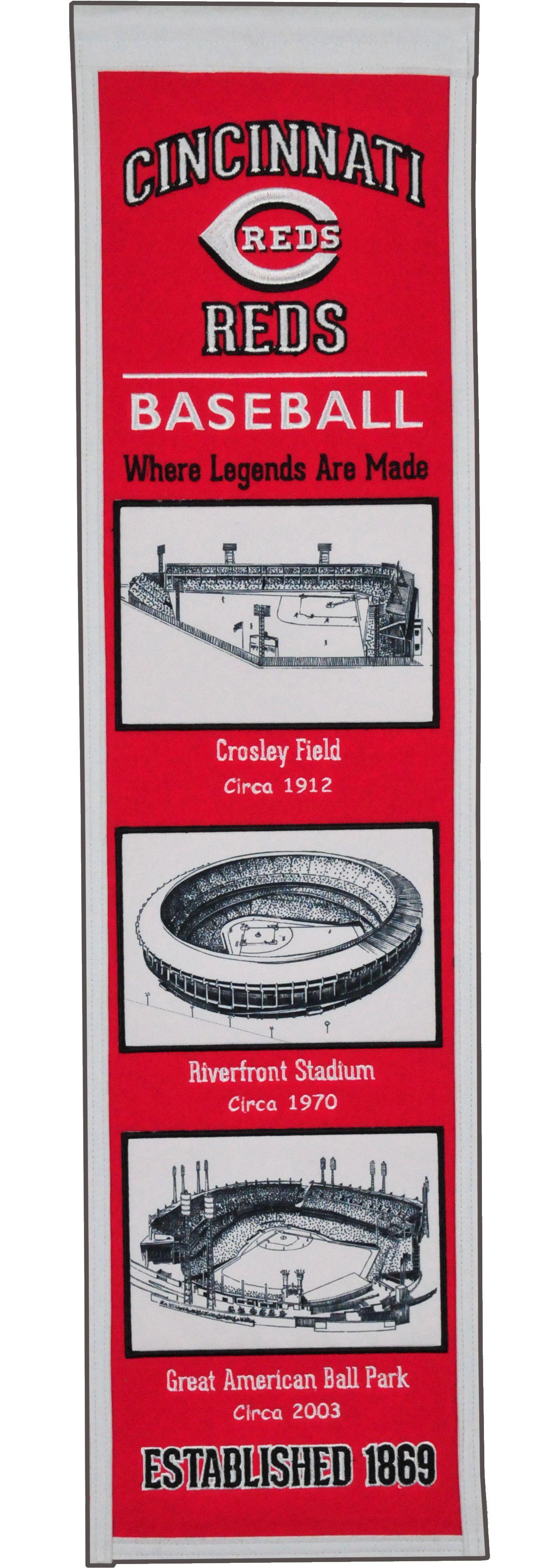 Winning Streak Sports Cincinnati Reds Stadium Evolution Banner