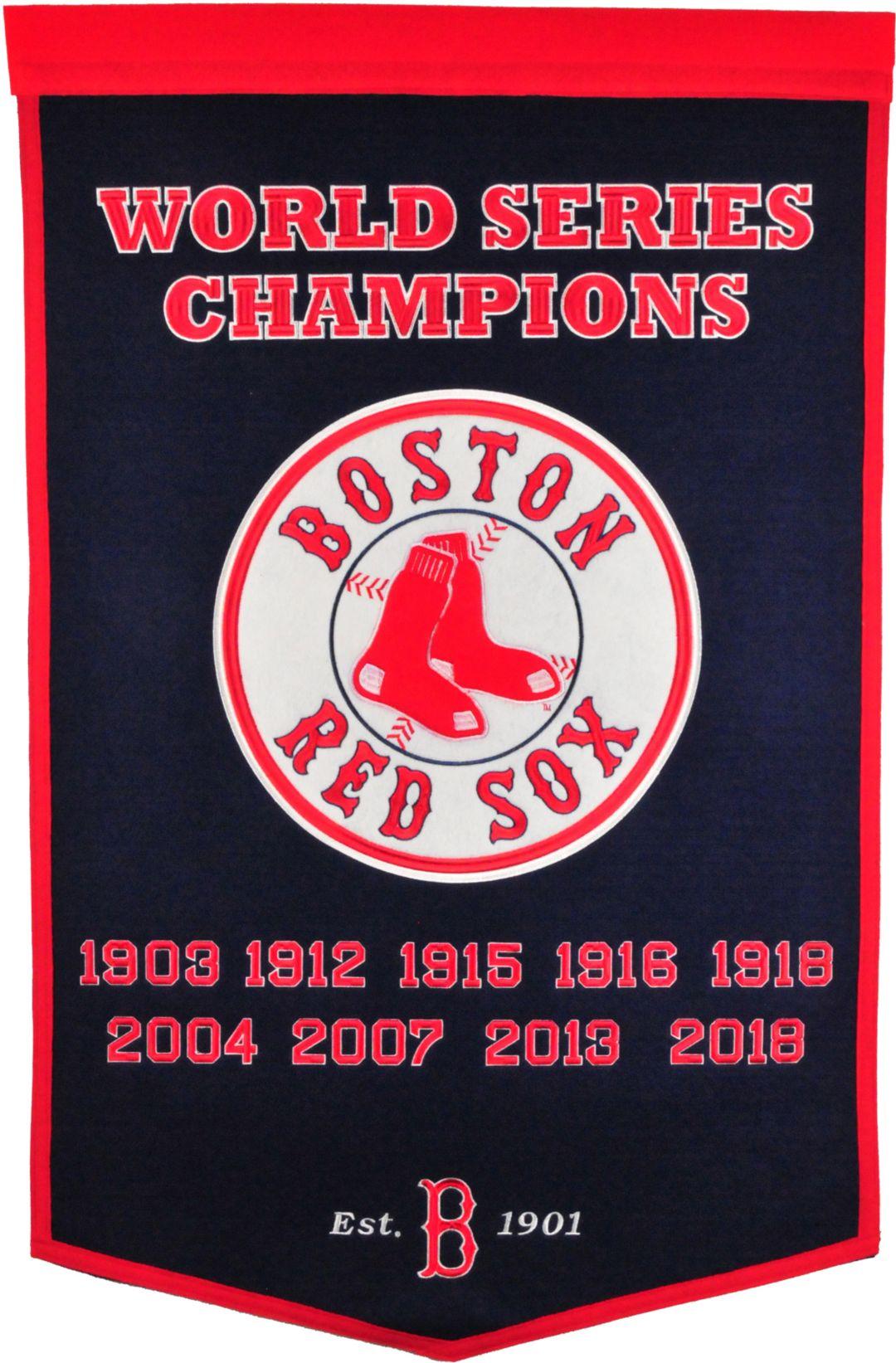 Winning Streak Sports 2018 World Series Champions Boston Red Sox Dynasty  Banner
