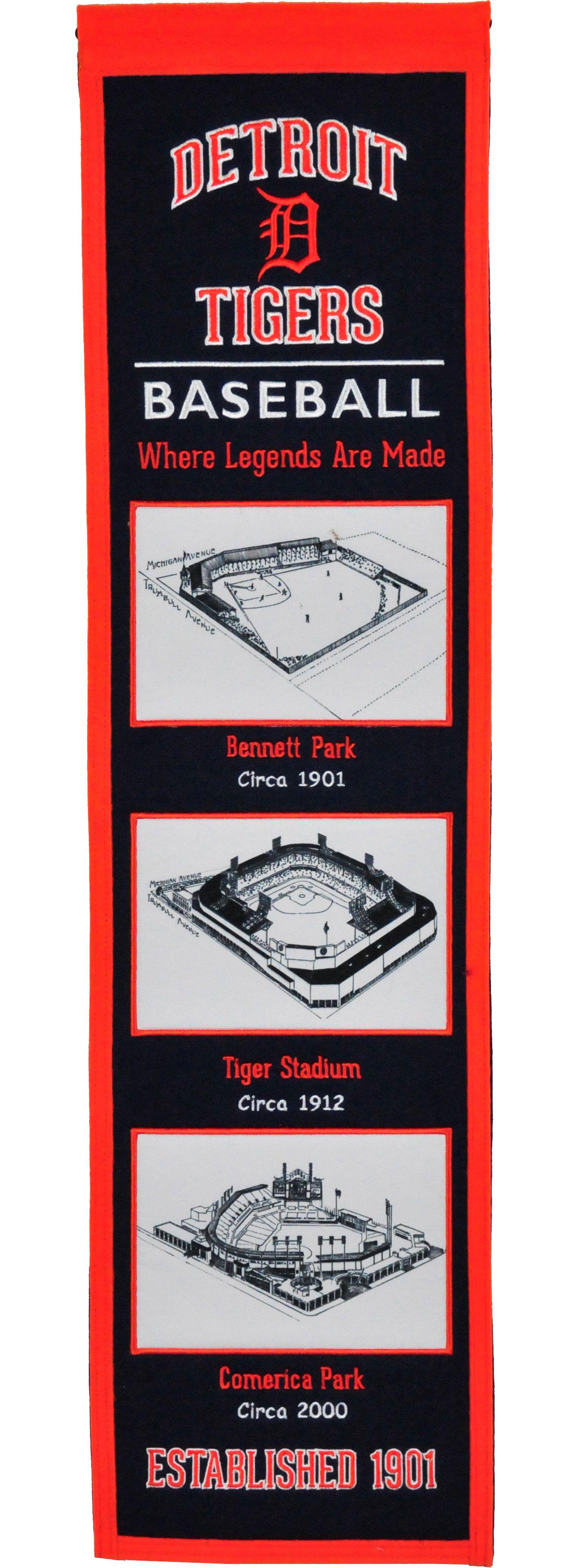 Winning Streak Sports Detroit Tigers Stadium Evolution Banner