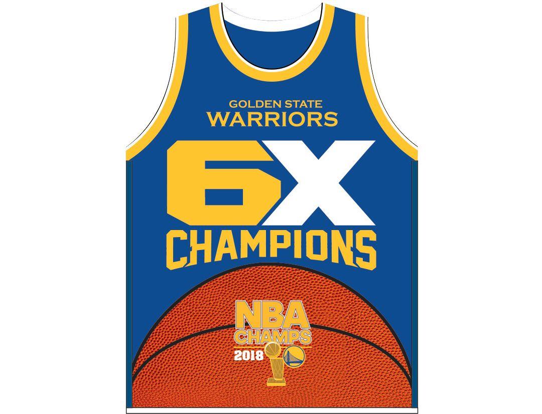 online retailer 4afda 3c49f Winning Streak Sports 2018 NBA Champions Golden State Warriors Jersey Banner