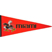 Winning Streak Sports Miami Hurricanes Tradition Pennant