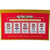 Winning Streak Sports San Francisco 49ers Repeat Rafter Banner