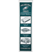 Winning Streak Sports Philadelphia Eagles Stadium Evolution Banner
