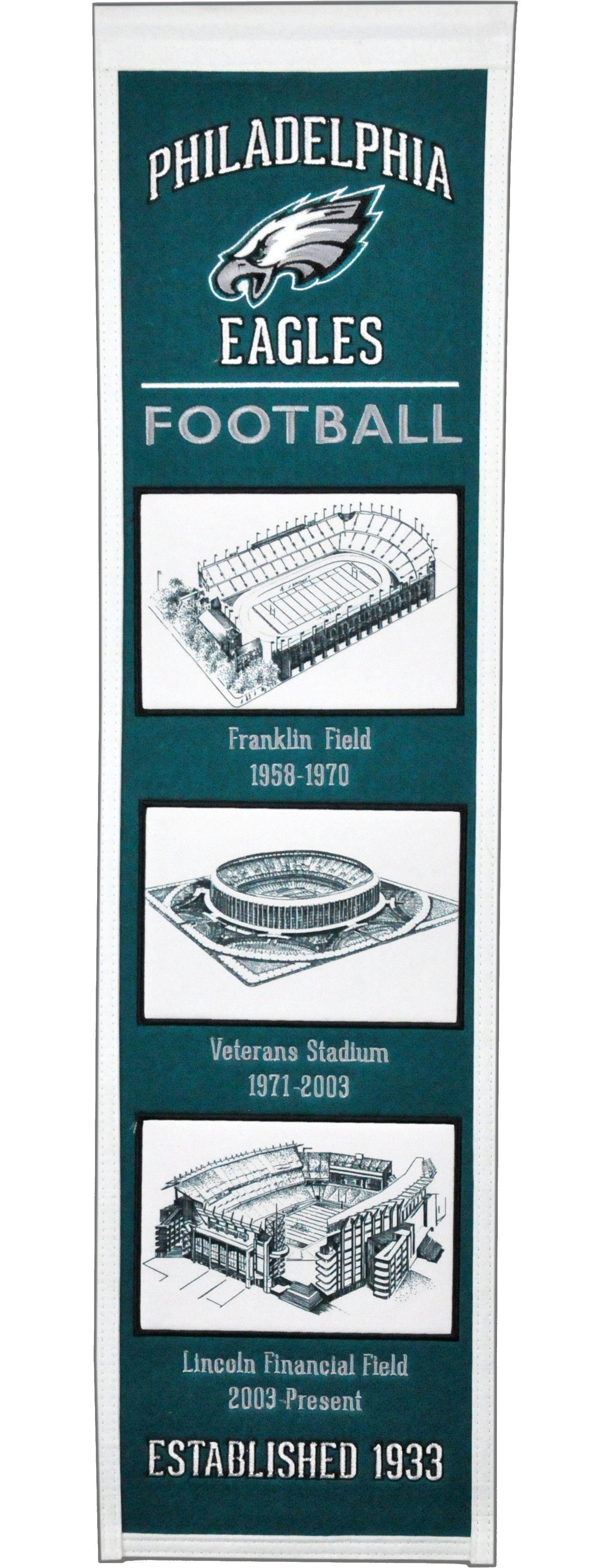 Winning Streak Sports Philadelphia Eagles Stadium Evolution Banner