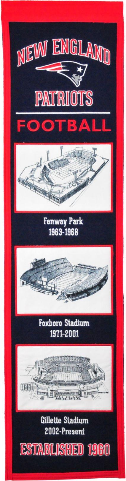 Winning Streak Sports New England Patriots Stadium Evolution Banner