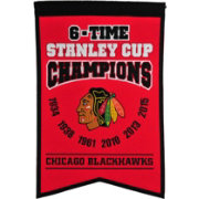 Winning Streak Sports Chicago Blackhawks 6-Time Stanley Cup Champions Banner