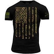 Grunt Style Men's Camo Flag Short Sleeve T-Shirt