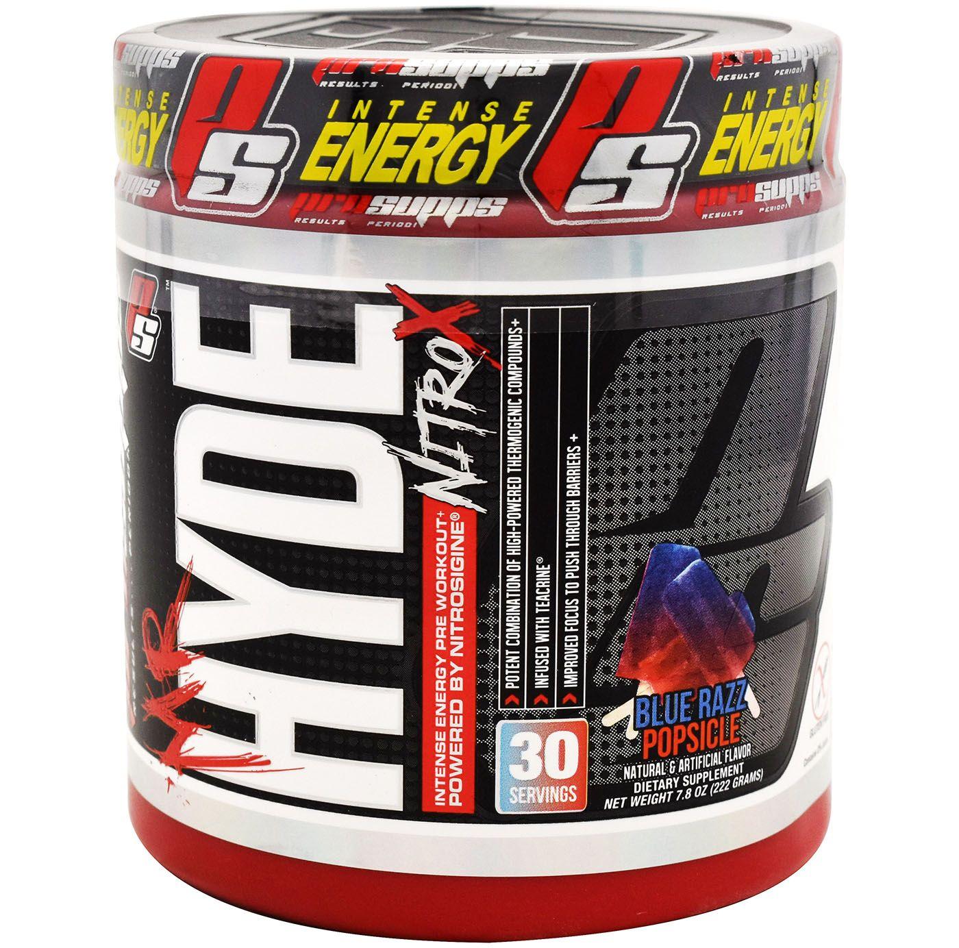 ProSupps Mr. Hyde NitroX Pre-Workout Blue Razz Popsicle