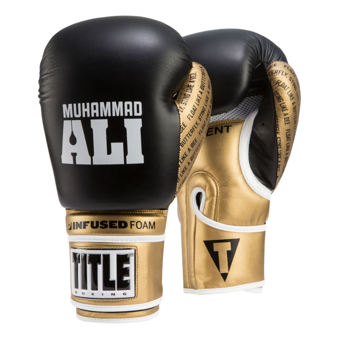 TITLE Muhammad Ali Training Gloves with Infused Foam