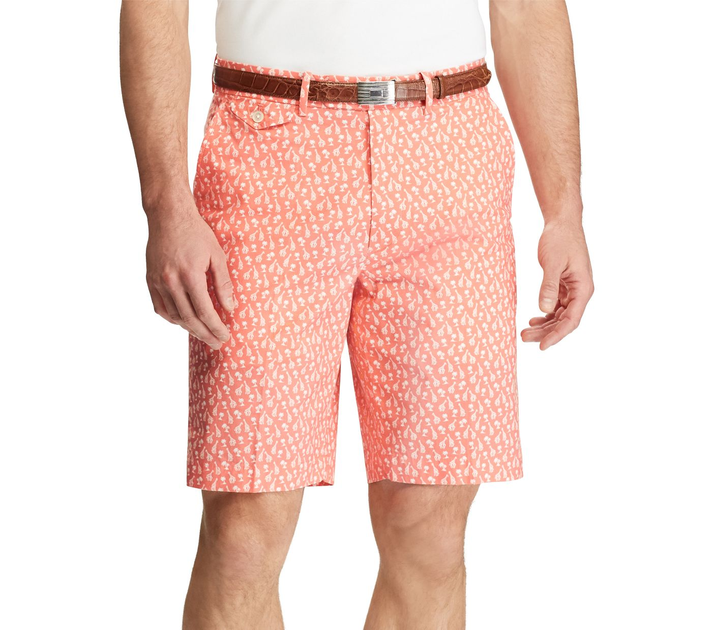 Polo Golf Men's Printed Stretch Twill Golf Shorts