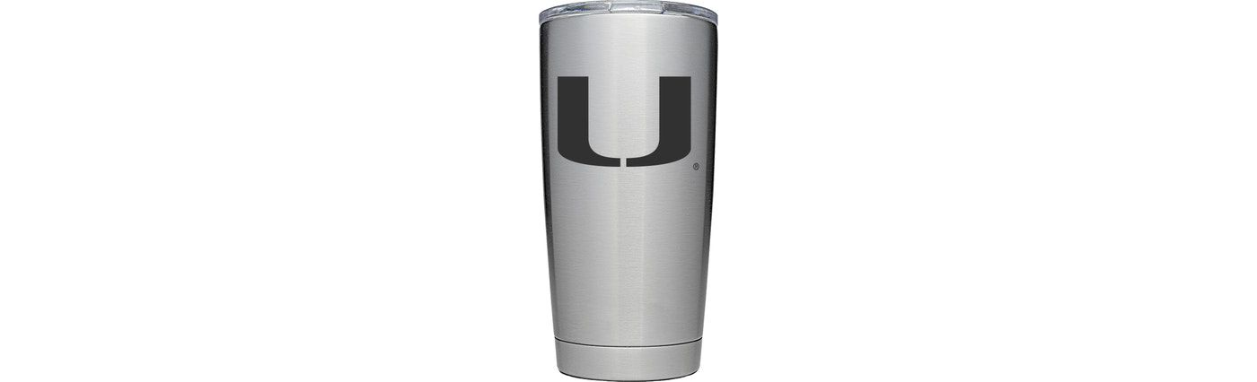 YETI Miami Hurricanes 20 oz. Rambler Tumbler with MagSlider Lid