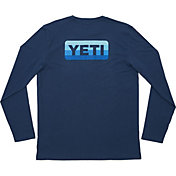 YETI Men's Badge Logo Long Sleeve Shirt