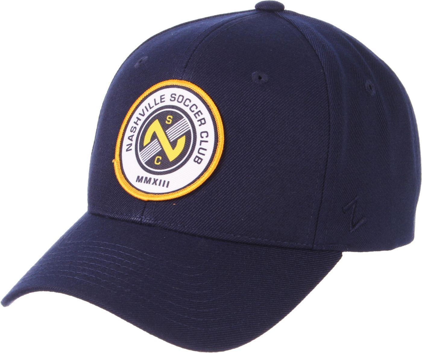 Zephyr Men's Nashville SC Competitive Navy Snapback Adjustable Hat