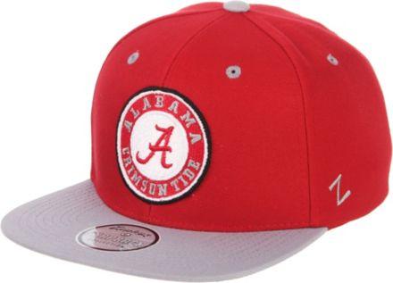 purchase cheap a859e 3485f Zephyr Men  39 s Alabama Crimson Tide Crimson Grey Script Adjustable  Snapback Hat