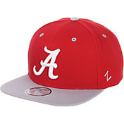 Zephyr Men's Alabama Crimson Tide Crimson/Grey Script Adjustable Snapback Hat