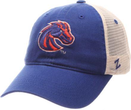 4f93d5c9eab0de Zephyr Men's Boise State Broncos Blue/Cream Trucker Logo Snapback Hat