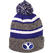 Zephyr Men's BYU Cougars Grey/Blue Pom Knit Beanie
