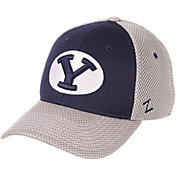 Zephyr Men's BYU Cougars Navy/White Restitch Fitted Hat