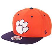 best website f3351 37532 Zephyr Mens Clemson Tigers Orange Regalia Script Adjustable Snapback Hat