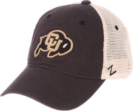 cheap for discount bf82c cd987 Zephyr Men  39 s Colorado Buffaloes Grey Cream Trucker Logo Snapback Hat
