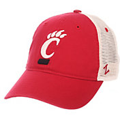 Zephyr Men's Cincinnati Bearcats Red/Cream Trucker Logo Snapback Hat