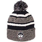 Zephyr Men's UConn Huskies Grey/Blue Pom Knit Beanie