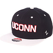 Zephyr Men's UConn Huskies Blue/White Script Adjustable Snapback Hat