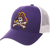 Zephyr Men's East Carolina Pirates Purple/White Big Rig Adjustable Hat