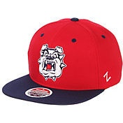 Zephyr Men's Fresno State Bulldogs Cardinal/Blue Script Adjustable Snapback Hat