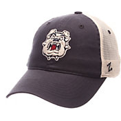 Zephyr Men's Fresno State Bulldogs Blue/Cream Trucker Logo Snapback Hat