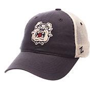 Zephyr Men's Fresno State Bulldogs Blue/Cream Trucker Logo Snapback Hat