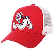Zephyr Men's Fresno State Bulldogs Cardinal/White Big Rig Adjustable Hat