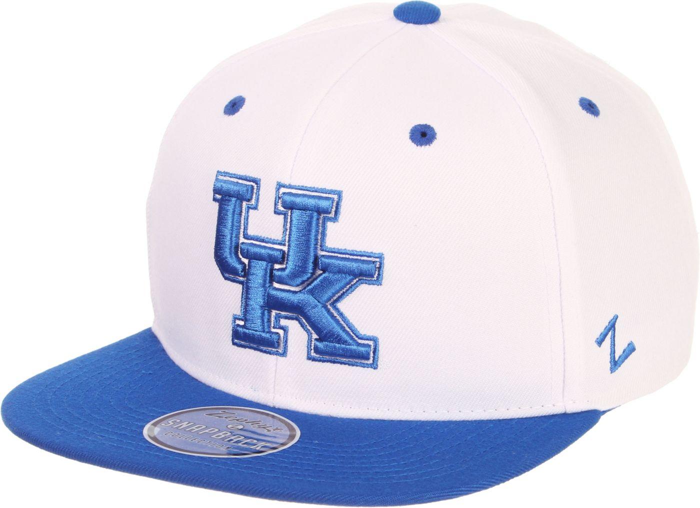 Zephyr Men's Kentucky Wildcats Blue/White Script Adjustable Snapback Hat