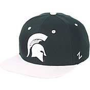 Zephyr Men's Michigan State Spartans Green/White Script Adjustable Snapback Hat