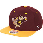 Zephyr Men's Minnesota Golden Gophers Maroon/Gold Script Adjustable Snapback Hat