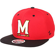 Zephyr Men's Maryland Terrapins Red/Black Script Adjustable Snapback Hat