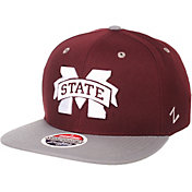 Zephyr Men's Mississippi State Bulldogs Maroon/Grey Script Adjustable Snapback Hat