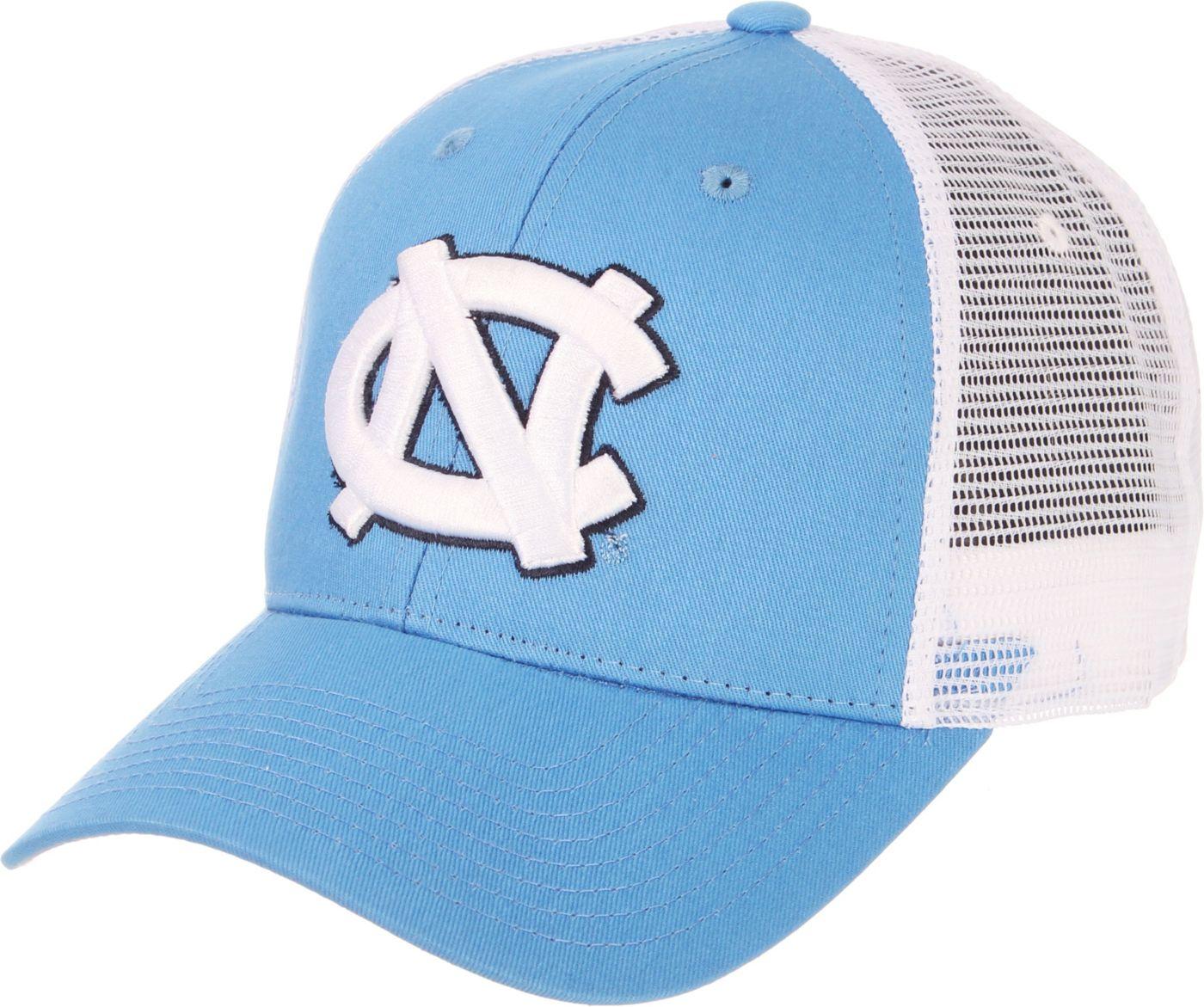 Zephyr Men's North Carolina Tar Heels Carolina Blue/White Big Rig Adjustable Hat