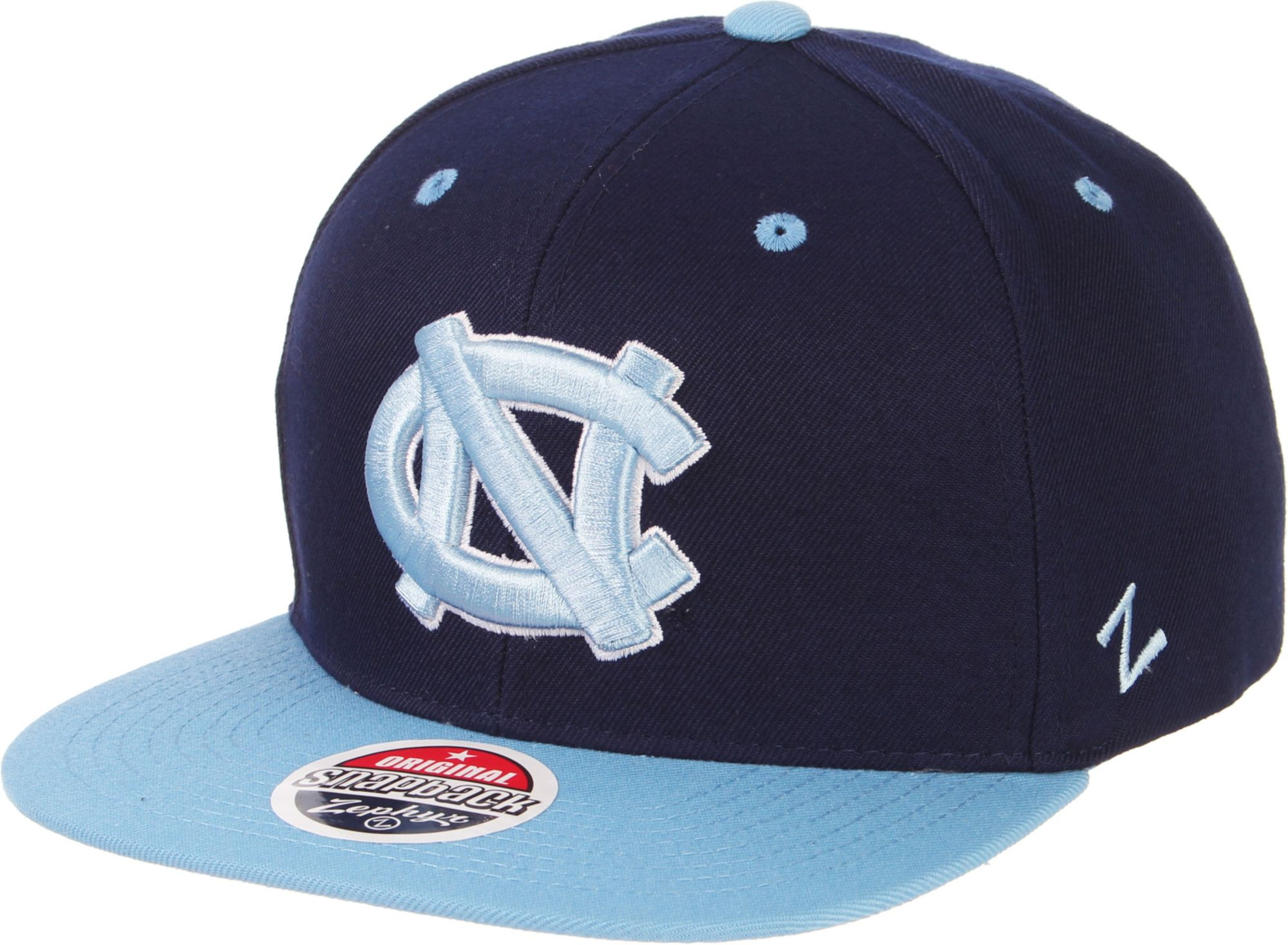 check out f8c6c 2c03a ... where to buy zephyr mens north carolina tar heels navy carolina blue  script adjustable snapback hat
