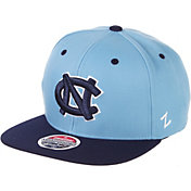 Zephyr Men's North Carolina Tar Heels Carolina Blue/Navy Script Adjustable Snapback Hat