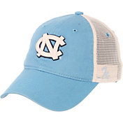 Zephyr Men's North Carolina Tar Heels Carolina Blue/Cream Trucker Logo Snapback Hat