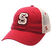Zephyr Men's NC State Wolfpack Red/Cream Trucker Logo Snapback Hat