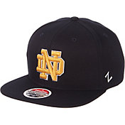 Zephyr Men's Notre Dame Fighting Irish Navy Script Adjustable Snapback Hat