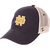Zephyr Men's Notre Dame Fighting Irish Navy/Cream Trucker Logo Snapback Hat