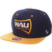 Zephyr Men's Northern Arizona Lumberjacks Blue/Gold Script Adjustable Snapback Hat