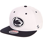 Zephyr Men's Penn State Nittany Lions White/Blue Script Adjustable Snapback Hat