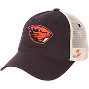 Zephyr Men's Oregon State Beavers Grey/Cream Trucker Logo Snapback Hat