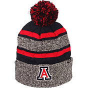 Zephyr Men's Arizona Wildcats Grey/Navy Pom Knit Beanie