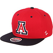 Zephyr Men's Arizona Wildcats Cardinal/Navy Script Adjustable Snapback Hat
