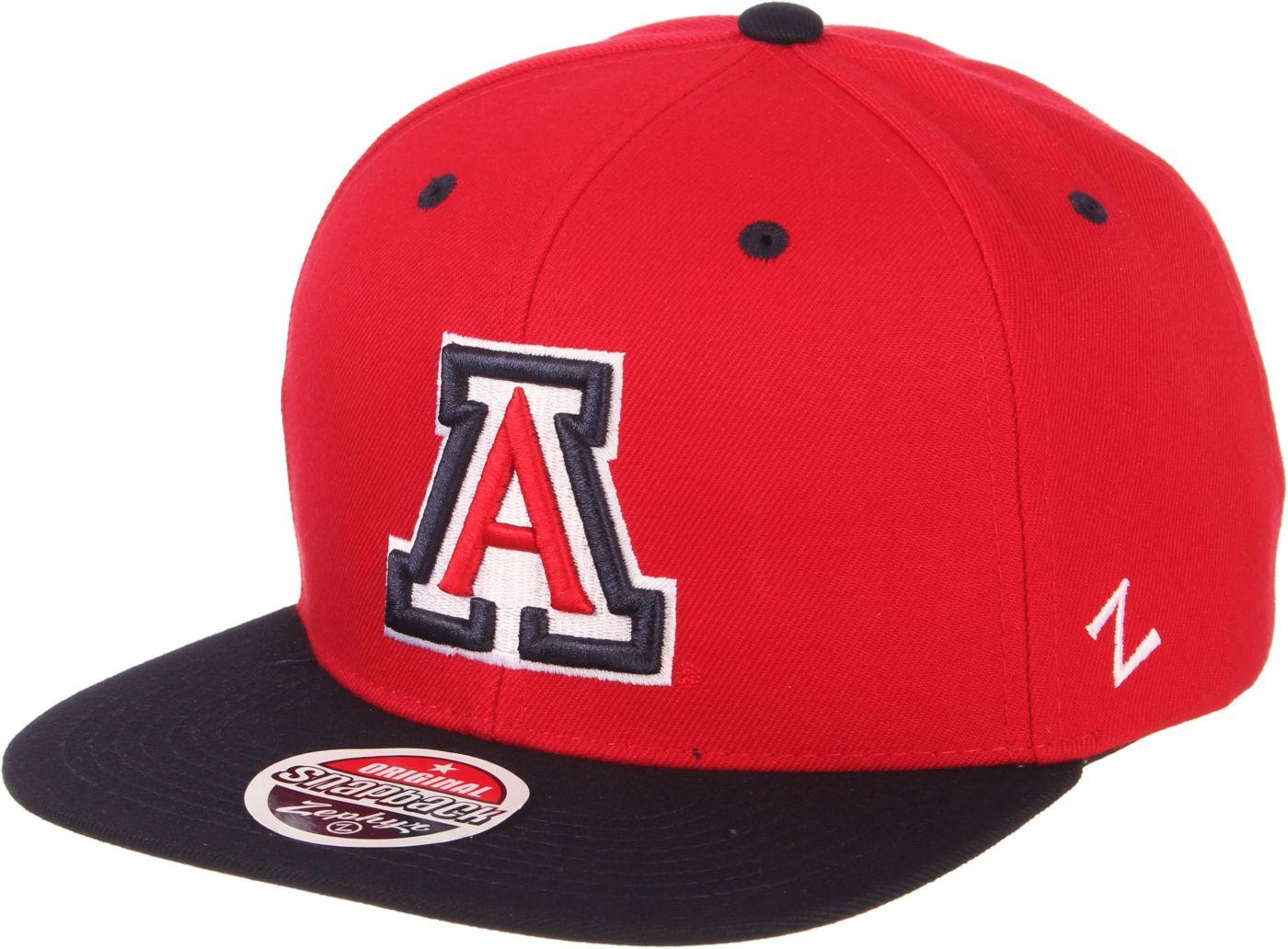 Zephyr Men's Arizona Wildcats Cardinal/Navy Script Adjustable Snapback Hat